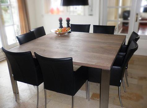 Design Vierkante Eettafel.De Wenloads Vierkante Eettafel Op Maat Meubelmaker De